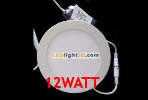 12watt Round Flat Panel